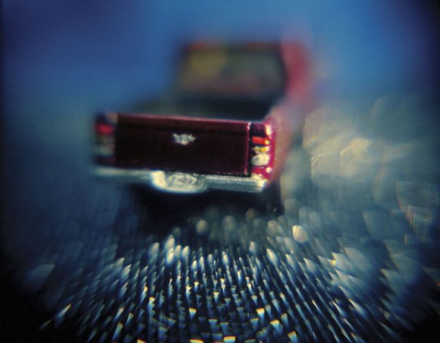red truck: from Hurricane Story, a series of Holga images about Hurricane Katrina
